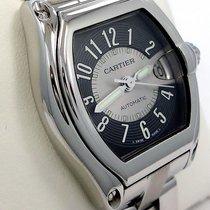 Cartier Roadster 2510 Large Size Steel Black & Silver Dial...