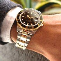 Rolex GMT-Master II Gold/Stahl 40mm Schwarz Keine Ziffern Schweiz, Ascona