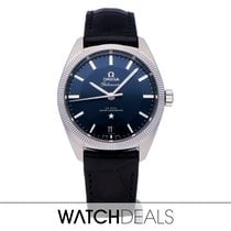 Omega Steel Automatic Blue No numerals 39mm new Globemaster