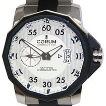 Corum Admiral's Cup Competition 48 Titanio 48mm Plata Árabes