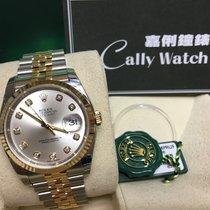Rolex Cally - 116233 Datejust 36 SS / YG Silver Diamond Dial...
