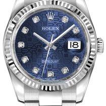 Rolex Datejust 36mm Stainless Steel 116234 Jubilee Blue...