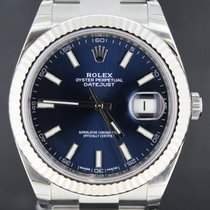 Rolex Datejust 41MM Steel Blue Dial 'Fluted Bezel'...