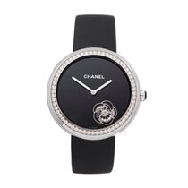 Chanel Mademoiselle White gold 38mm Black