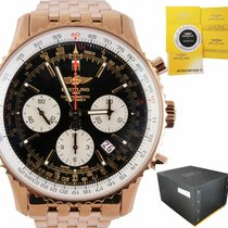 Breitling Navitimer pre-owned 43mm Black Chronograph Date Rose gold