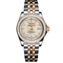 Breitling Galactic 32 Gold/Steel 32mm Mother of pearl No numerals