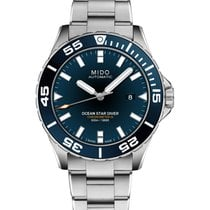 Mido Ocean Star Stal 43,5mm Niebieski