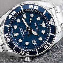 Seiko new Automatic Luminescent Hands Rotating Bezel Screw-Down Crown 45mm Steel Mineral Glass
