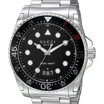 Gucci Steel 45mm Quartz YA136208 new