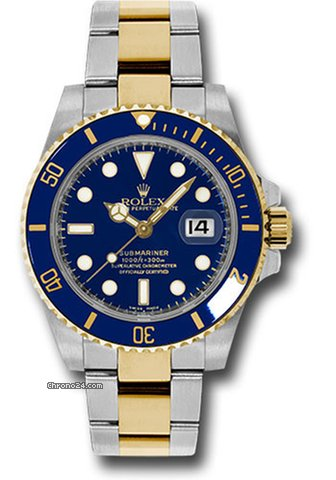Rolex Submariner Date two tone blue 116613LB NEW