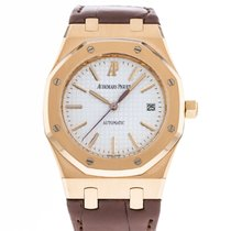 Audemars Piguet Rose gold Automatic Silver 39mm pre-owned Royal Oak Selfwinding