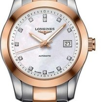 Longines Conquest Classic L2.285.5.87.7 Very good Gold/Steel 29.5mm Automatic
