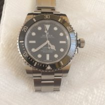 Rolex Silver Automatic Black No numerals 40mm pre-owned Submariner (No Date)
