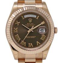 Rolex Day-Date II Oro rosa 41mm Marrón