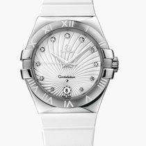 Omega Ladies  Constellation Diamond SS 35MM Quartz Watch