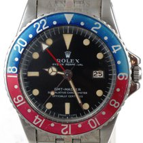 Rolex 1967 GMT-Master MK1 Long E Black Dial Nicely Faded Pepsi...