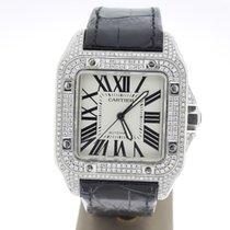 Cartier Santos 100 XL 38x51mm AftersetDiamonds (B&P2013) MINT