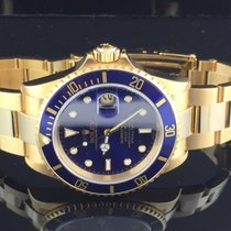 Rolex SUBMARINER BLUE DIAL YELLOW GOLD FULL SET LIKE N.O.S.16618