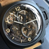 Panerai LO SCIENZIATO - LUMINOR 1950 TOURBILLON GMT CERAMICA -...