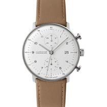 Junghans Chronograph 40mm Automatik 2018 gebraucht max bill Chronoscope Silber