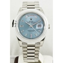 Rolex Day-Date 40 Platine 40mm Bleu