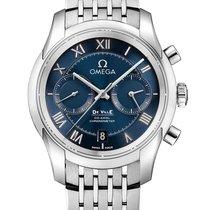 Omega De Ville Co-Axial Acero Azul