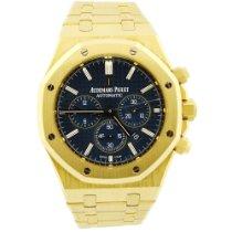 Audemars Piguet Royal Oak Chronograph Pre Owned 41mm Blue Date Yellow Gold