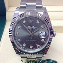 Rolex Datejust Gold/Steel 41mm Grey No numerals