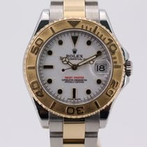 Rolex Yacht-Master Gold/Steel 35mm White No numerals