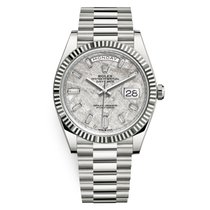 Rolex White gold Automatic Grey 40mm new Day-Date 40