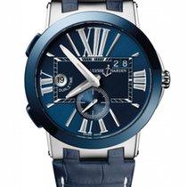 Ulysse Nardin Executive Dual Time Steel 43mm Blue Roman numerals