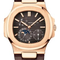 Patek Philippe Nautilus Rose gold 40mm Brown No numerals United States of America, New Jersey, Totowa