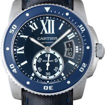 Cartier Calibre de Cartier Diver Stahl 42mm Blau Römisch Deutschland