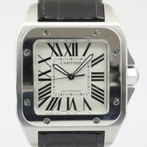 Cartier Santos 100 tweedehands 41.3mm Staal