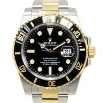 勞力士 Submariner(date) Gold And Steel Black Automatic 116613LN