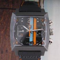 TAG Heuer Monaco Calibre 36 Steel 40.5mm Black No numerals