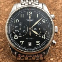 Longines Avigation pre-owned 40mm Black Chronograph Date Steel