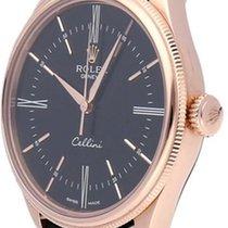 Rolex Cellini Time Or rose 39mm Noir Sans chiffres