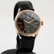 Rolex Ροζέ χρυσό Αυτόματη Μαύρο Xωρίς ψηφία 39mm μεταχειρισμένο Cellini Time