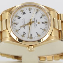 Rolex Oyster Perpetual Medium Vollgold Full Set LC 100 #115