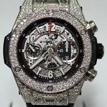 Hublot Big Bang Skeleton Dial Diamond Bezel 411.NX.1170.RX