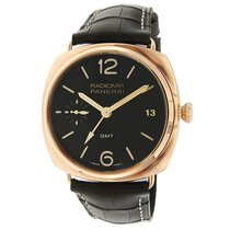Panerai Radiomir 3 Days GMT Red gold 47mm Brown Arabic numerals