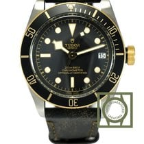 Tudor Heritage Black Bay Steel & Gold 41 Leather