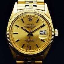 Rolex Oro amarillo Automático Champán Sin cifras 36mm usados Datejust