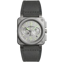 Bell & Ross Steel Automatic BR0394-GR-ST/SCA new