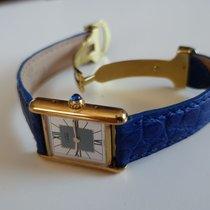 Cartier Tank Vermeil Quartz 925 silber vergoldet