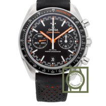 Omega Speedmaster Racing Co-Axial 44.25 mm Steel Leather...