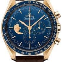 Omega Oro amarillo Cuerda manual Azul 42mm nuevo Speedmaster Professional Moonwatch
