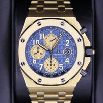 Audemars Piguet Gelbgold Automatik Blau Arabisch 42mm neu Royal Oak Offshore Chronograph