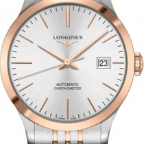Longines Record Gold/Steel 38.5mm Silver